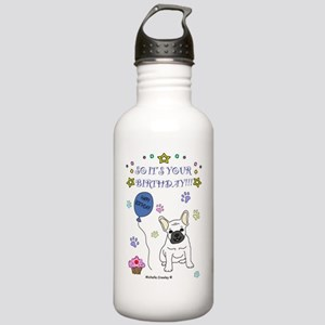 FrenchBulldogWhite Stainless Water Bottle 1.0L