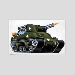 M4A1ShermanBlown 3'x5' Area Rug