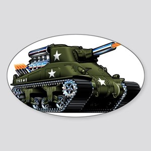 M4A1ShermanBlown Sticker (Oval)