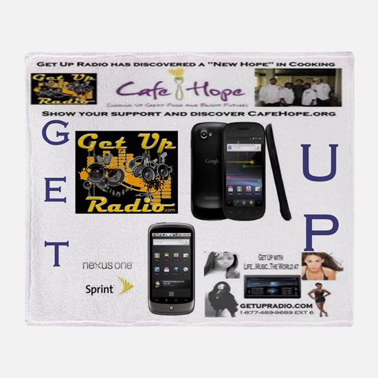get up raffle picture Throw Blanket