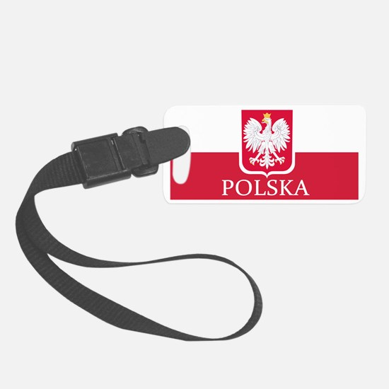 Polska Flag White Eagle LP Luggage Tag