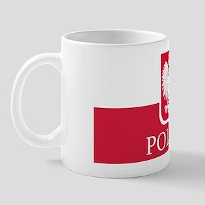 Polska Flag White Eagle LP Mug