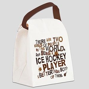 icehockeybrown Canvas Lunch Bag