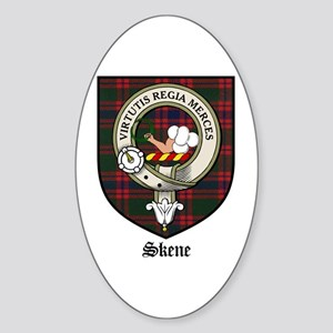 Skene Clan Crest Tartan Oval Sticker