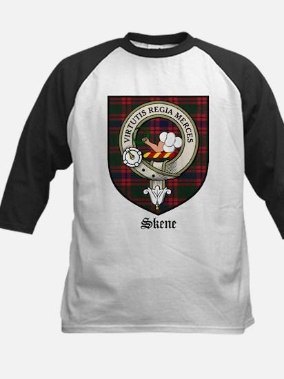 Skene Clan Crest Tartan Kids Baseball Jersey