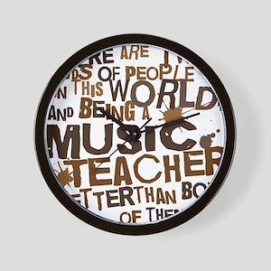 musicteacherbrown Wall Clock