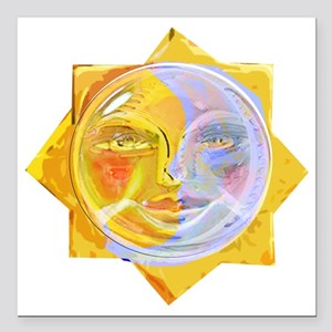 "iredscentSUNmoon Square Car Magnet 3"" x 3"""