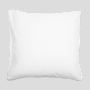 Bulldog Team Mascot Graphic Square Canvas Pillow