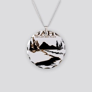 Idaho the Last best place Necklace Circle Charm