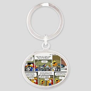 cw2L0057 Oval Keychain