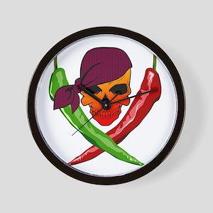 Chili Pirate-blk Wall Clock