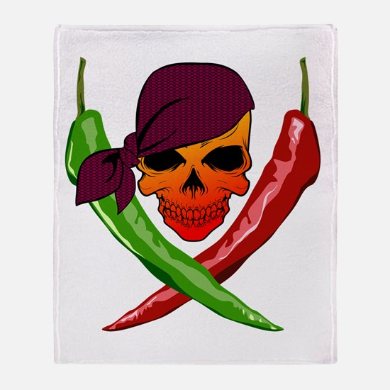 Chili Pirate-blk Throw Blanket