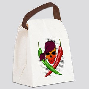 Chili Pirate Canvas Lunch Bag