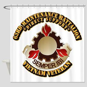 Army - 63rd Maintenance Battalion Shower Curtain