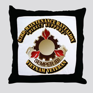 Army - 63rd Maintenance Battalion Throw Pillow