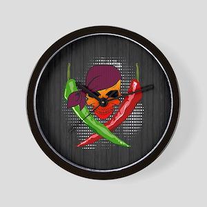 Chili Pirate-Lrg-button Wall Clock