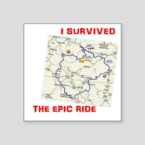 """epic ride black Square Sticker 3"""" x 3"""""""