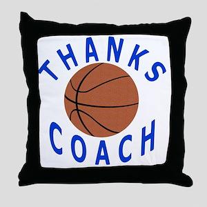 Thank You Basketball Coach Gifts Throw Pillow
