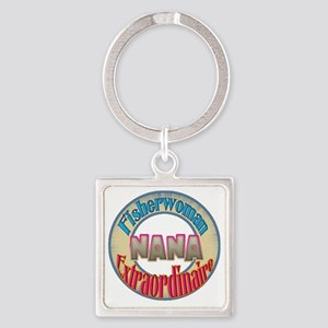 FISHERMAN NANA Square Keychain