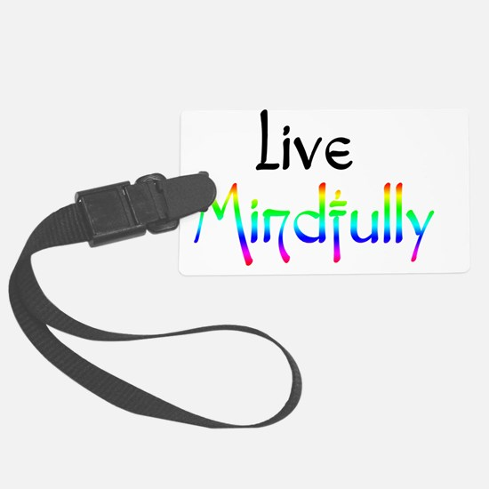 live_mindfully_black_forwhite_10 Luggage Tag
