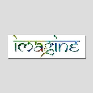Imagine Rainbow Car Magnet 10 x 3