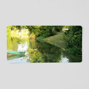 lake2 Aluminum License Plate