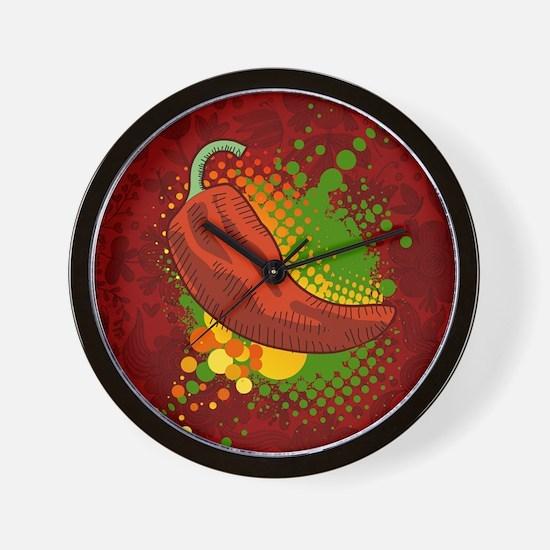 Chili Season-pillow Wall Clock