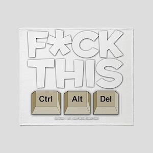 f-ckthis_darkshirt Throw Blanket