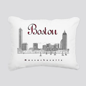 Boston_7x7_BostonSkyline Rectangular Canvas Pillow