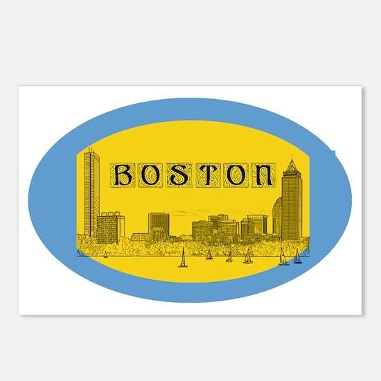 Boston_4.58x2.91_tmug_Sky Postcards (Package of 8)