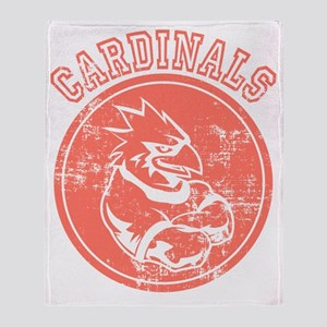 Cardinals Sports Team Mascot Graphic Throw Blanket