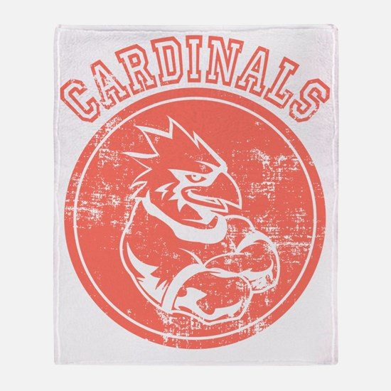 Cardinals Sports Team Mascot Graphic Throw Blanket