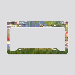 LIC-Lilies 2 - Norwich Terrie License Plate Holder