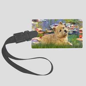LIC-Lilies 2 - Norwich Terrier ( Large Luggage Tag