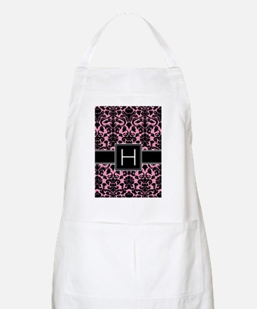 h_monogram_iphone_damask Apron