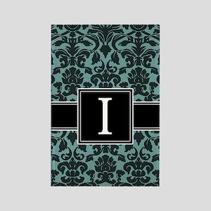 i_monogram_iphone_damask_teal Rectangle Magnet