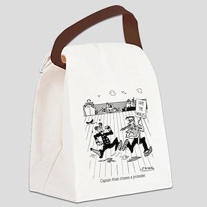 1399_whale_cartoon Canvas Lunch Bag
