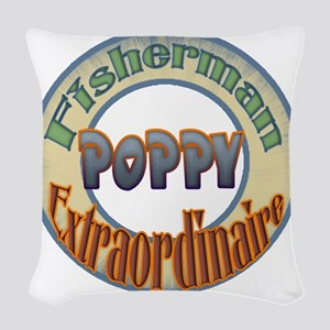 FISHERMAN POPPY Woven Throw Pillow