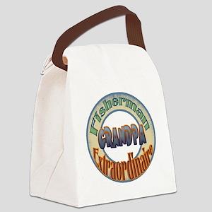 FISHERMAN GRANDPA Canvas Lunch Bag