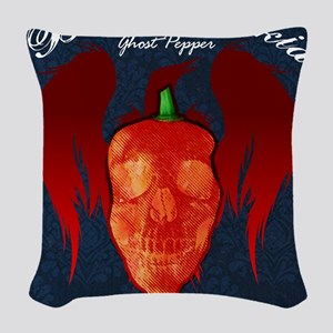 Ghost-poster Woven Throw Pillow