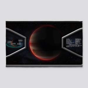 Planet Scanning Poster 3'x5' Area Rug