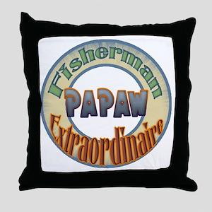 FISHERMAN PAPAW Throw Pillow