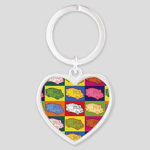 16_FoodTruck_PopArt_Full Heart Keychain