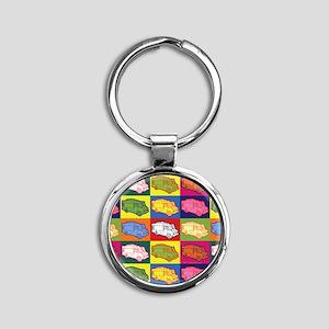 16_FoodTruck_PopArt_Full Round Keychain