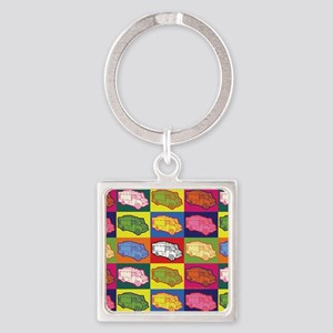 16_FoodTruck_PopArt_Full Square Keychain
