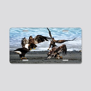 Eagles Greeting or Conflict Aluminum License Plate