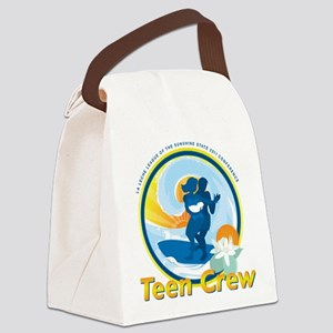 LLLSurfingTeenCrewCircle Canvas Lunch Bag