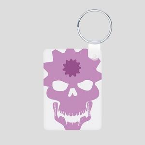 skull flipper Aluminum Photo Keychain