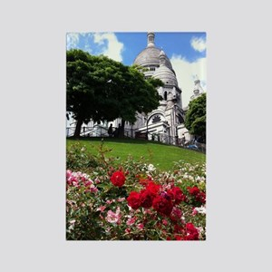 Sacre Coeur roses Rectangle Magnet