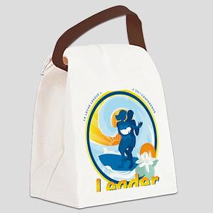 LLLSurfingLeaderCircle Canvas Lunch Bag